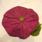 Alpehue, pink/lime m blomst