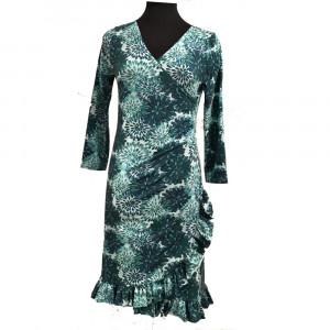 Mejse, slå om kjole med flæse