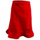 Christie, nederdel med volant, rød