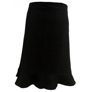 Christie, nederdel med volant, sort