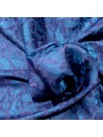 Tørklæde i vietnamesisk silke, den blå time