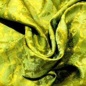 Tørklæde i vietnamesisk silke, forårsgrøn