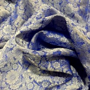 Tørklæde i vietnamesisk silke, himmelblå