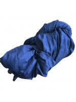 Silkesjal, marineblå