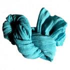 Uld tørklæde, tyrkis