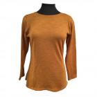 Merino t-shirt med bådhals, karry