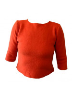 Uld t-shirt i kogt uld, orange