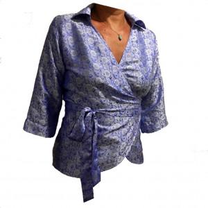 Slå om skjorte, himmelblå M