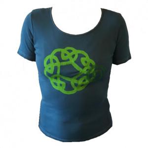 T-shirt med print, petrol