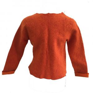 Jakke i nunofilt, orange str. S
