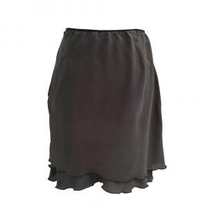 Laya, nederdel i silke, mørk grå, M/L