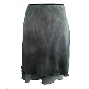Laya, silkenederdel, lys grå, S/M