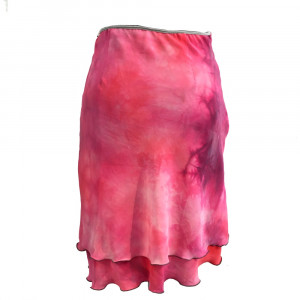 Laya, silkenederdel, pink, S/M