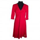 Mette, kjole m snoning rød