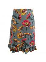 Nederdel med flæse, lyseblå