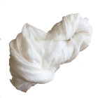 Silkesjal, hvid
