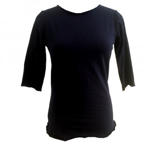 Rikke, t-shirt med bådhals. Øko