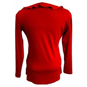 Annie, t-shirt med volant, rød