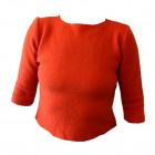 Uld t-shirt i kogt uld, orange